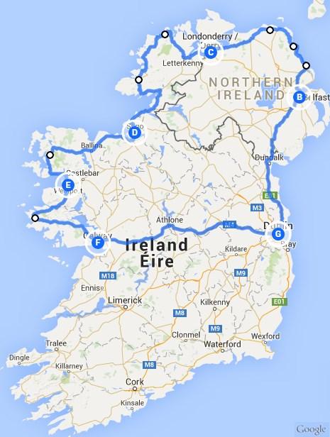 Nordirland-Rundreise mit dem Mietwagen