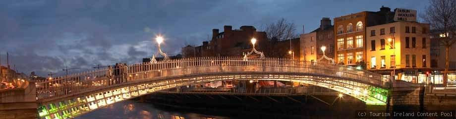 Dublin mit Halfpenny Bridge