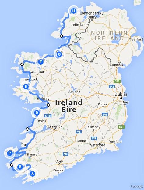 wanderwege irland karte Wanderung Wild Atlantic Way | gruene Insel.de   Die Irland Experten