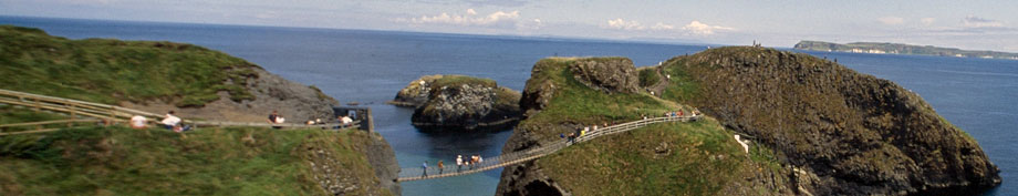 Nordirland Rundreise Carrick a Rede Rope Bridge