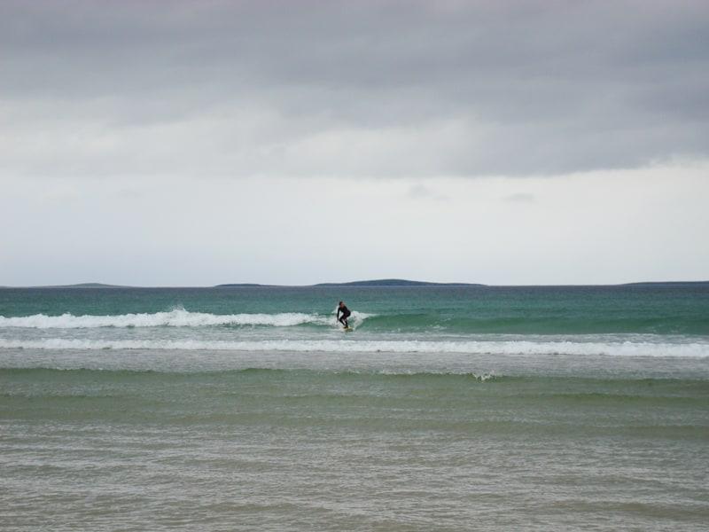 In den Wellen von Dunfanaghy (County Donegal), © Daniela Klütsch