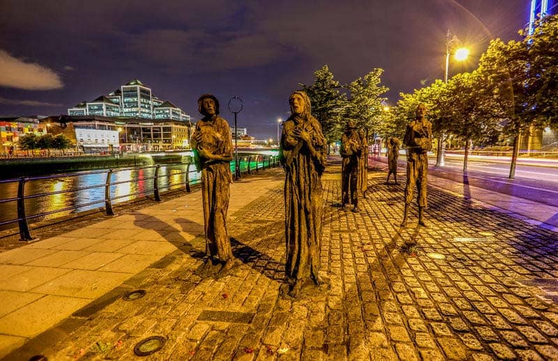 Famine Skulpturen in Dublin