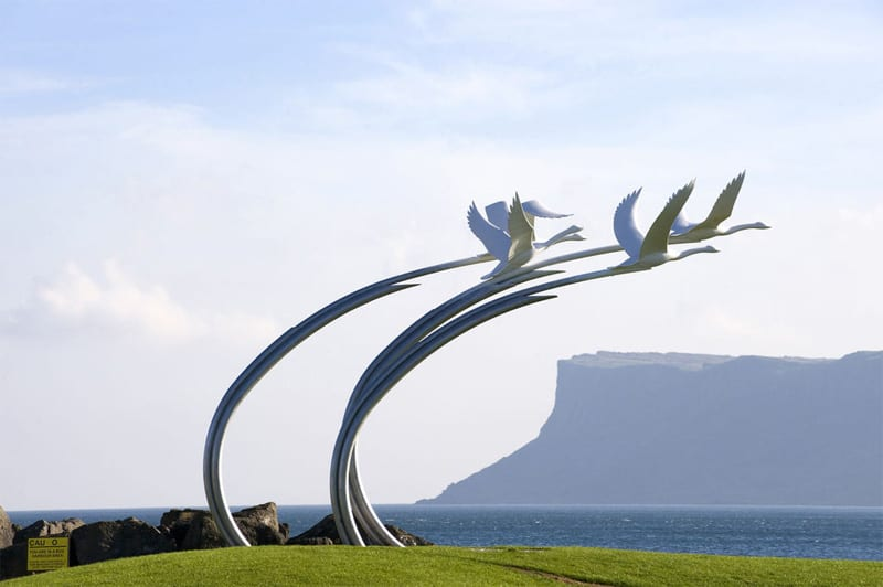 Kinder des Lir Statue, Children of Lir