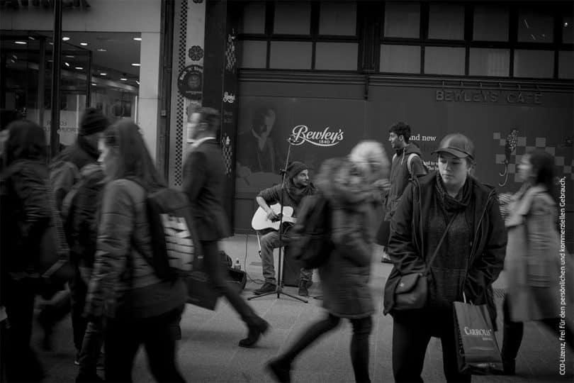 Straßenmusiker in Irland
