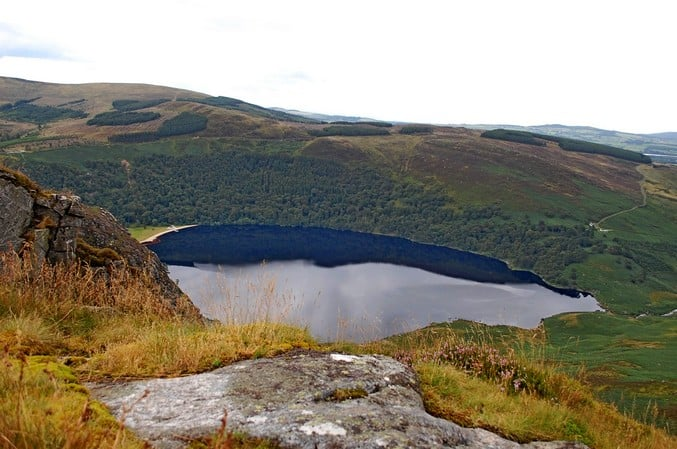 Wicklow Mountains Lough Tay Luggala