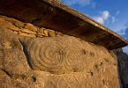 Eingangsstein Newgrange, keltische Symbole
