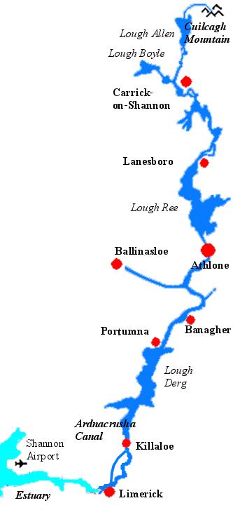 Shannon Fluss Karte