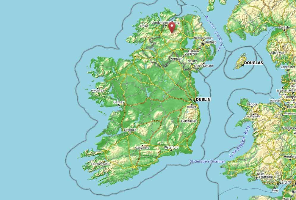Wo liegen The Sperrin Mountains? Karte