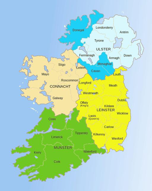 irische Provinzen