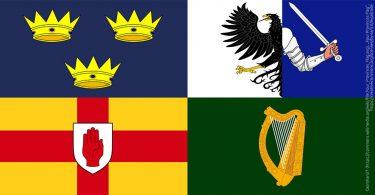 Irlands Provinzen Wappen