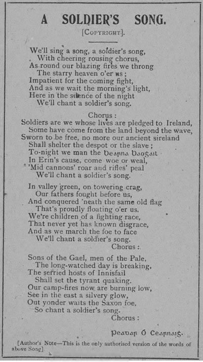 Die irische Nationalhymne