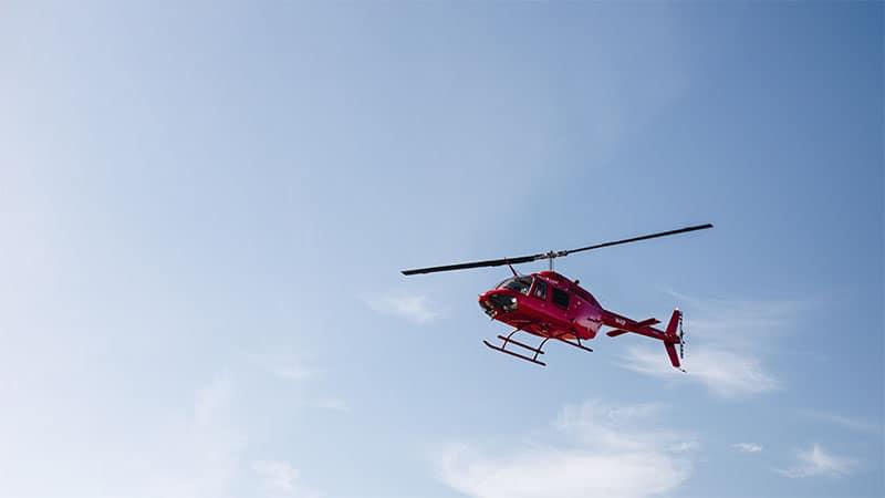 Helikopterflug Irland