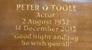 Andenken an Peter O'Toole