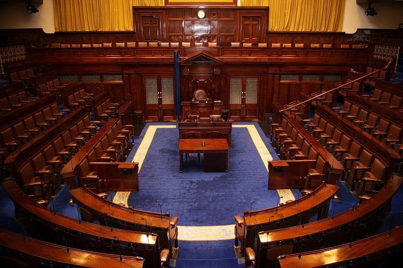 Dáil Chamber, Irlands politisches System