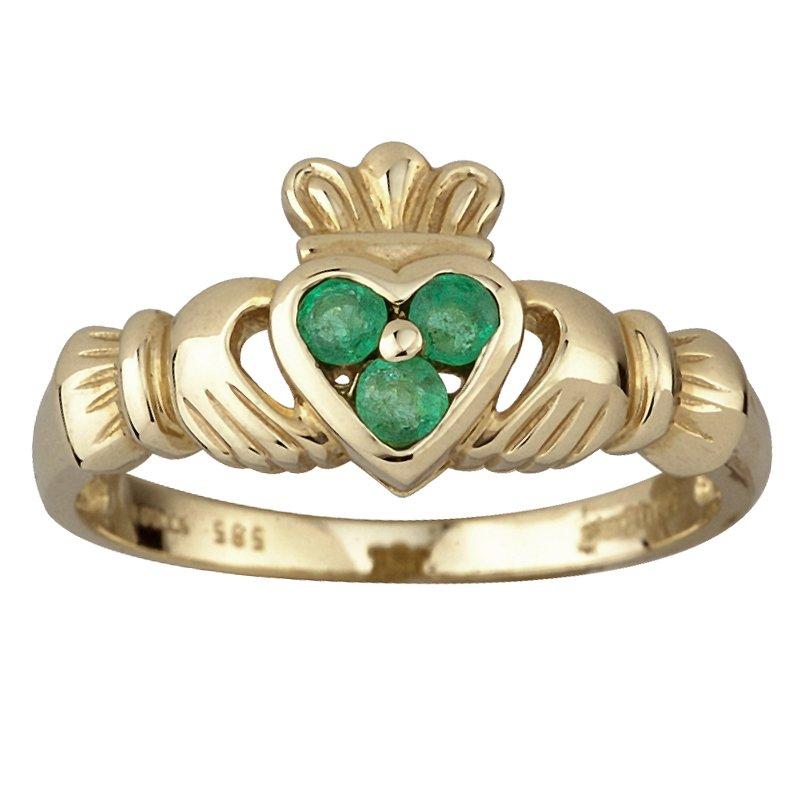 Claddagh Ring Gold Gruene Insel De